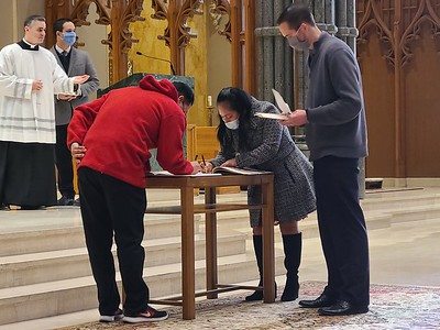 Rite of Election at Cathedral 2021