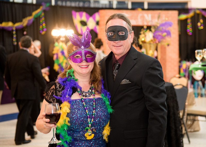 Tammy Walker Smith (left) and James Smith pose for a photo during President's Ball on March 3rd, 2018 at Texas A&M University - Corpus Christi.