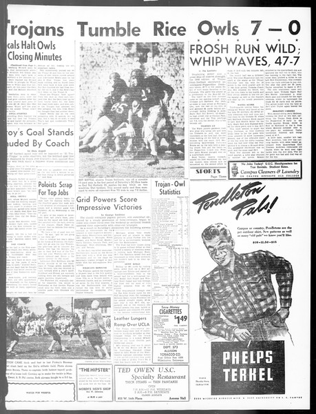 Daily Trojan, Vol. 40, No. 21, October 11, 1948