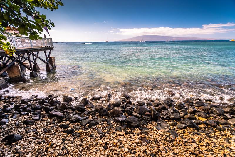 Rocky beach in Lahaina
