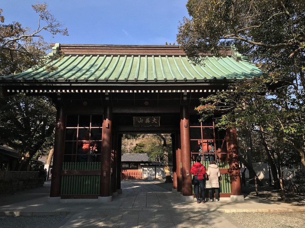 The entrance to Kotoku-in Temple.