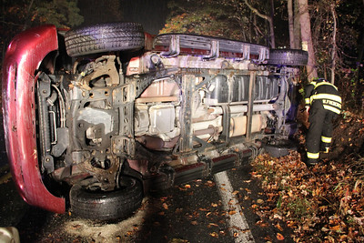 Overturned Vehicle, MVA, Catawissa Road, Walker Township (10-19-2013)