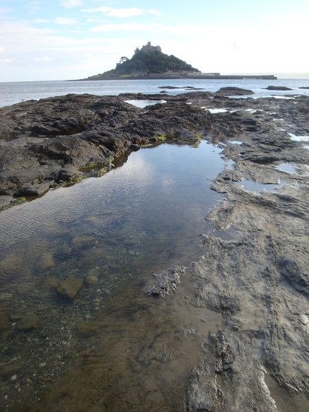 St Michael's Mount in Cornwall is accessible by foot for only a few hours each day, when a rocky path is revealed at low tide.