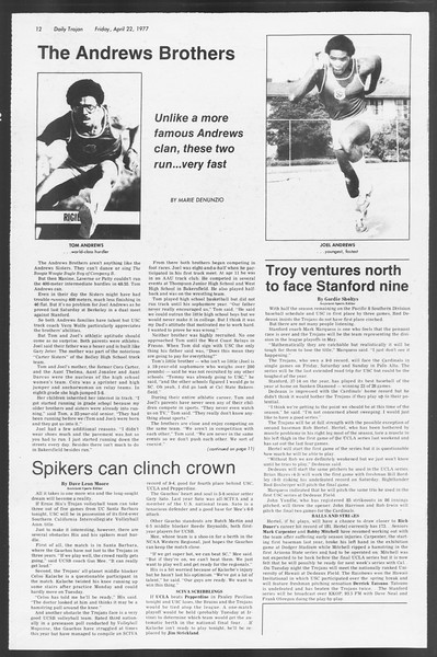 Daily Trojan, Vol. 71, No. 45, April 22, 1977