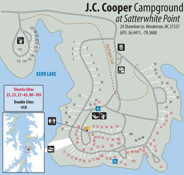 Kerr Lake State Recreation Area (J.C. Cooper Campground)