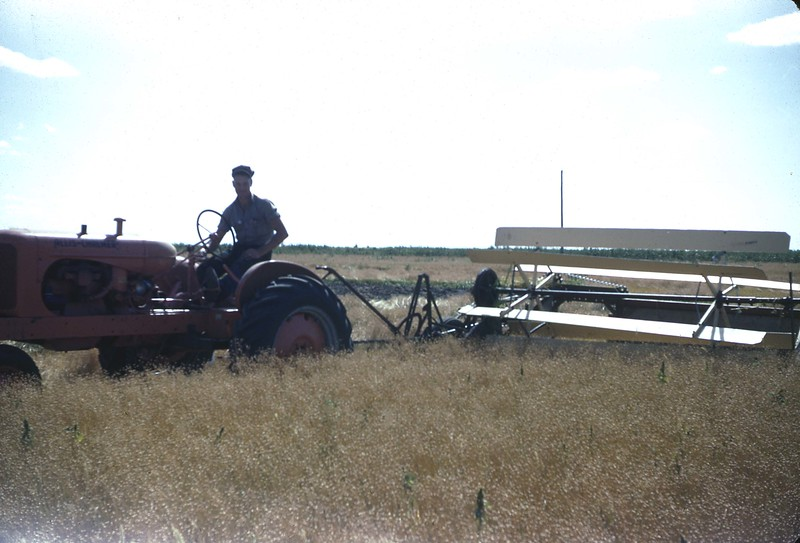 ARS042.  Tractor and swather - 1946‡.jpg