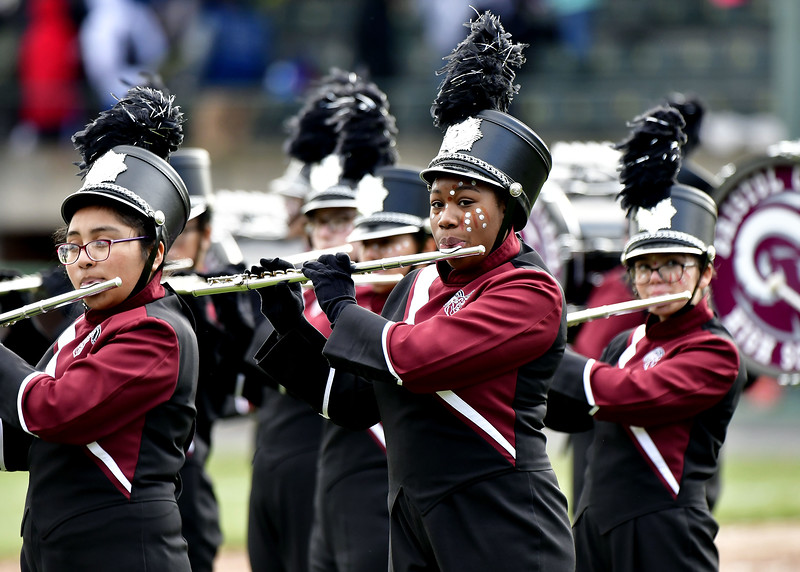 11/28/2019 Mike Orazzi   Staff The Bristol Central High School Marching Band during Thursday's Battle for the Bell at Muzzy Field.