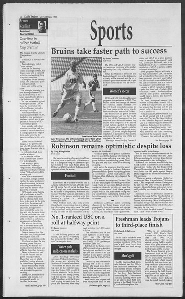 Daily Trojan, Vol. 129, No. 39, October 23, 1996