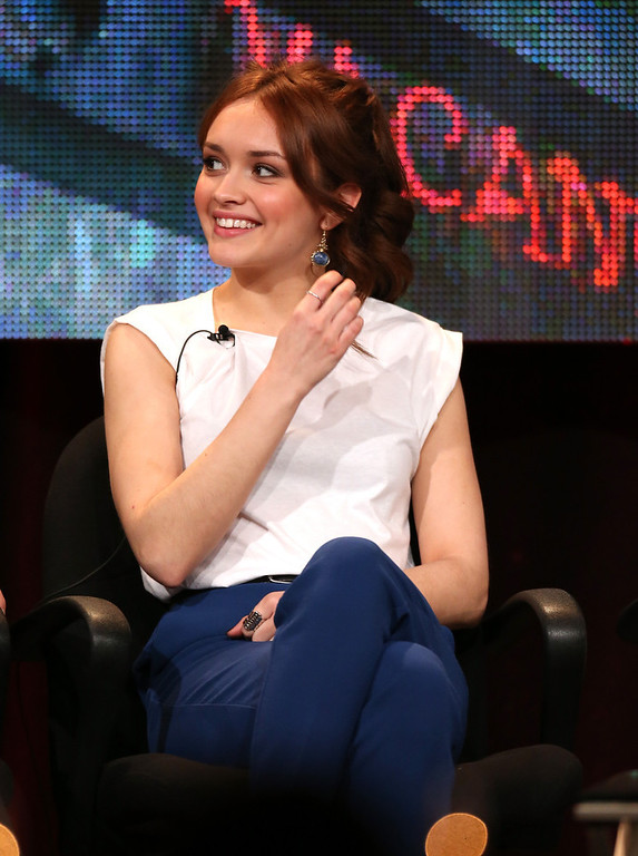 ". Actress Olivia Cooke  speaks onstage during the ""Bates Motel\"" panel discussion at the A&E Network portion of the 2013 Winter TCA Tourduring 2013 Winter TCA Tour - Day 1 at Langham Hotel on January 4, 2013 in Pasadena, California.  (Photo by Frederick M. Brown/Getty Images)"