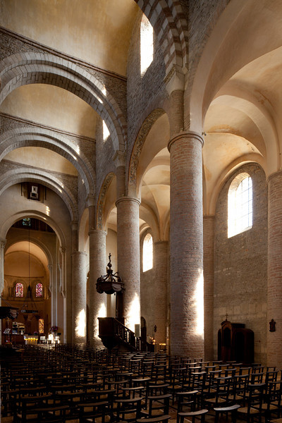 Tournus, Saint-Philibert Abbey Nave Arcade