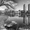 Harlem Meer Path _ bw