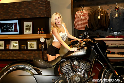 Bikini's at Indian  Motorcycle Event
