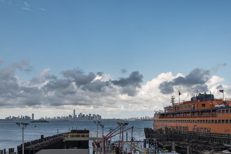 Staten Island Ferry - St. George Terminal, Staten Island, New York, NY, USA - August 19, 2015