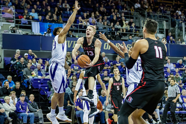 2017 Seattle U Men's Basketball vs UW