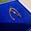 Victorian Diamond, Ruby, and Sapphire Wishbone Brooch 3