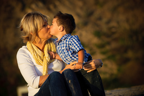 Cindy and Grandson Luke (Family Photography, Seacliff Beach, Aptos, California)