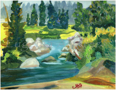 Green River. Original Oil On Canvas Painting  Fine Art Print from Oil On Canvas Painting Landscape Painting Art Oil On Canvas Wall Art