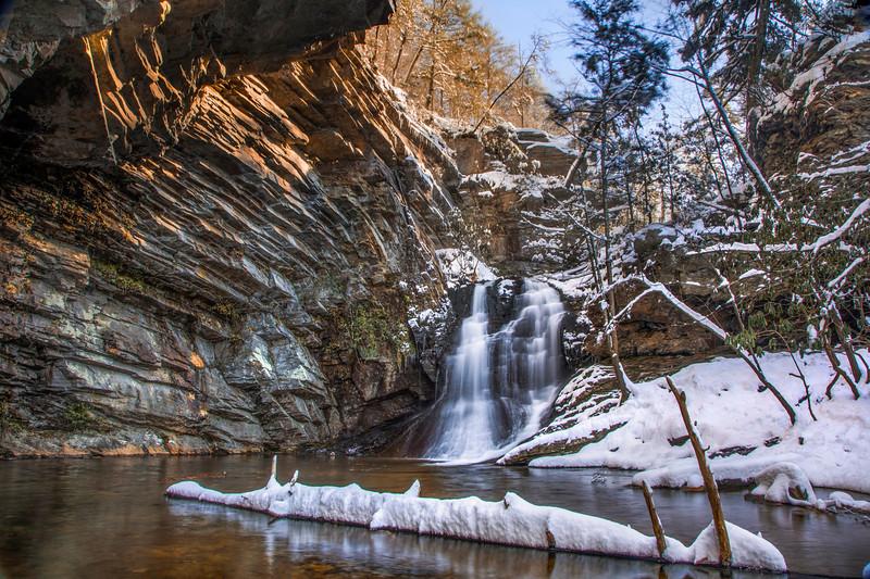 Snowy Lower Cascade Falls