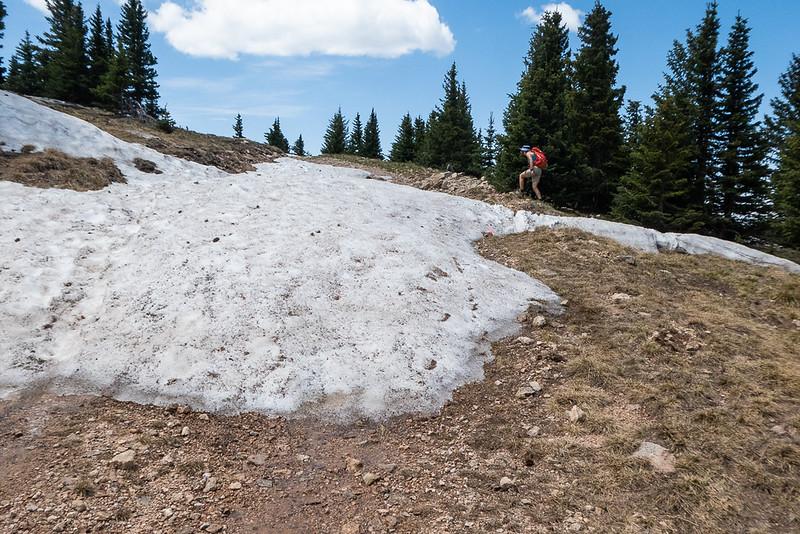 Snowbanks near 12,000 feet