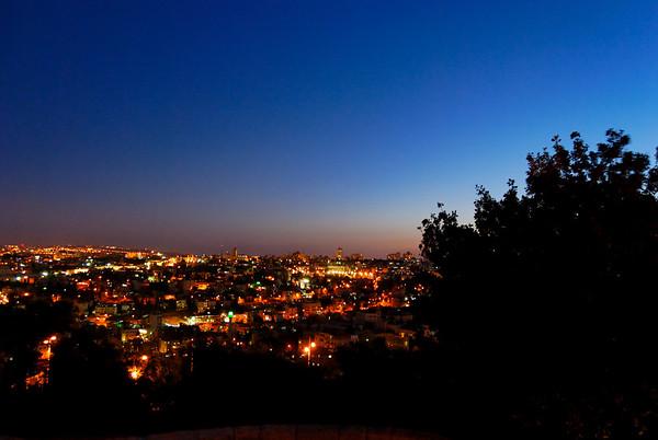 Jerusalem - Monte das oliveiras à noite