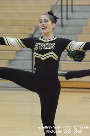 1-09-2016 Seneca Valley HS Varsity Poms at Northwest HS, Photos by Jeffrey Vogt Photography with Kyle Hall