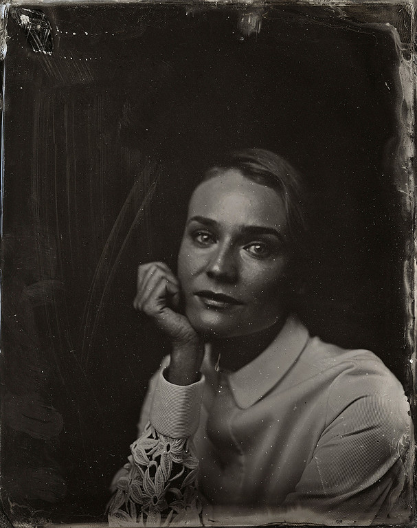 . Diane Kruger poses for a tintype (wet collodion) portrait at The Collective and Gibson Lounge Powered by CEG, during the 2014 Sundance Film Festival in Park City, Utah. (Photo by Victoria Will/Invision/AP)