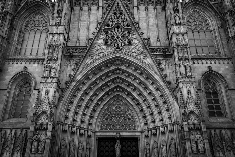 Entrance to the Barcelona Cathedral