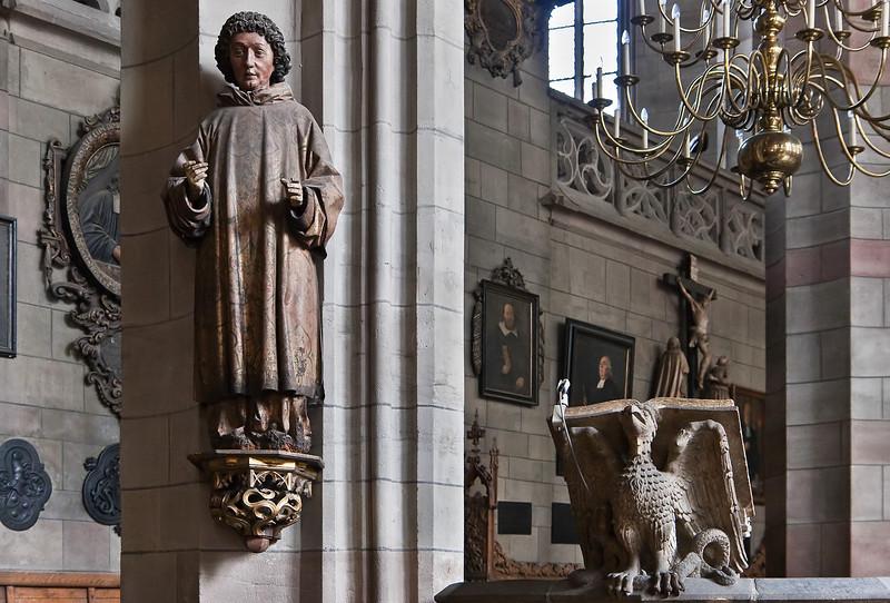 Zwickau, St. Marien, Heiliger Laurentius (um 1500)