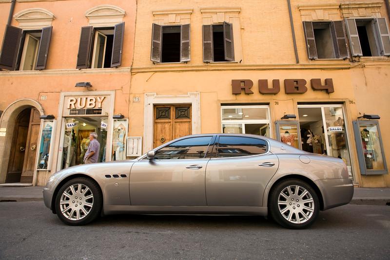 Parked Maserati, Via Frattina, Rome