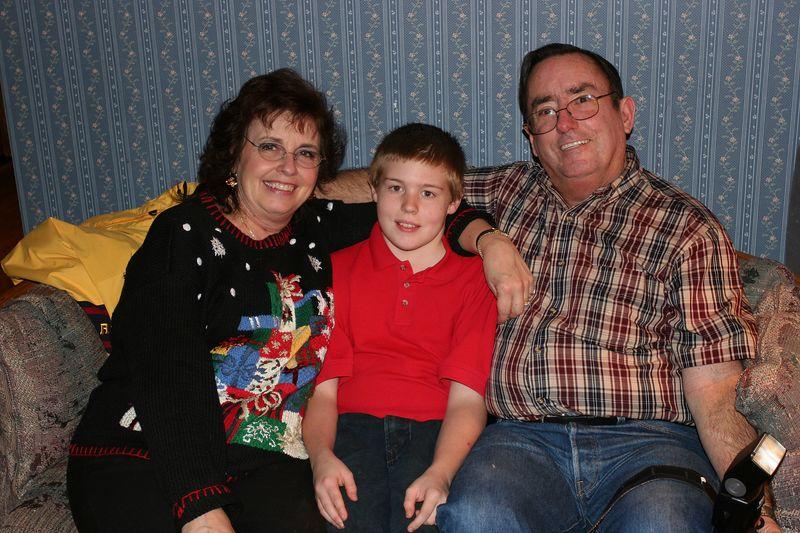 Aaron with Grandma & Papa