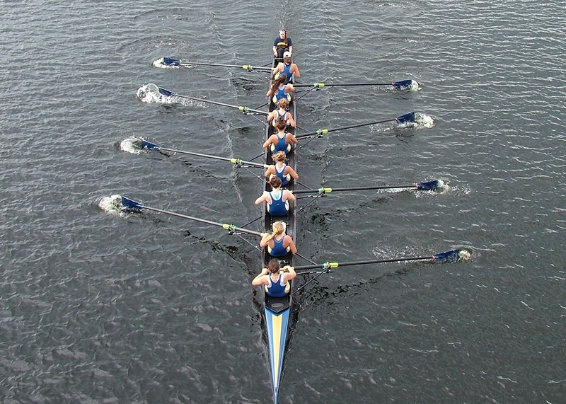 Rowing along the Merrimack River - Lowell, MA