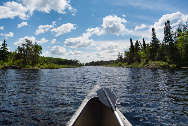 Canoeing in Manitoba