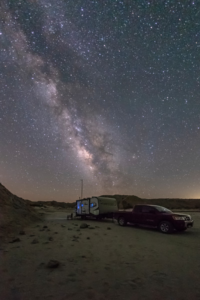 Camping Under the Milky Way In The Anza-Borrego Desert