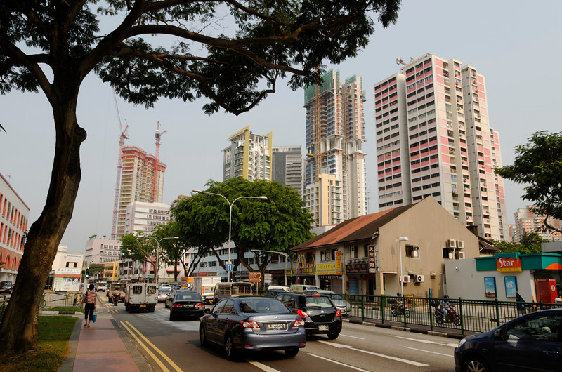 Keeping the old with the new - Housing Development along Balesteir Road, Singapore