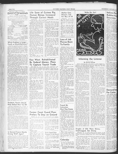 Daily Trojan, Vol. 30, No. 69, January 18, 1939