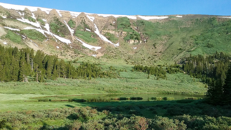 Serpent Lake below the ridge