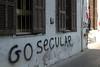 Go secular - graffiti in the Hamra area of Beirut, Lebanon