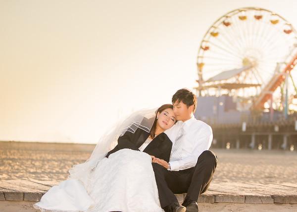Pre-Wedding | Bonnie & Jeff | Retouched 30 | Hollywood + Venice Canals + Santa Monica