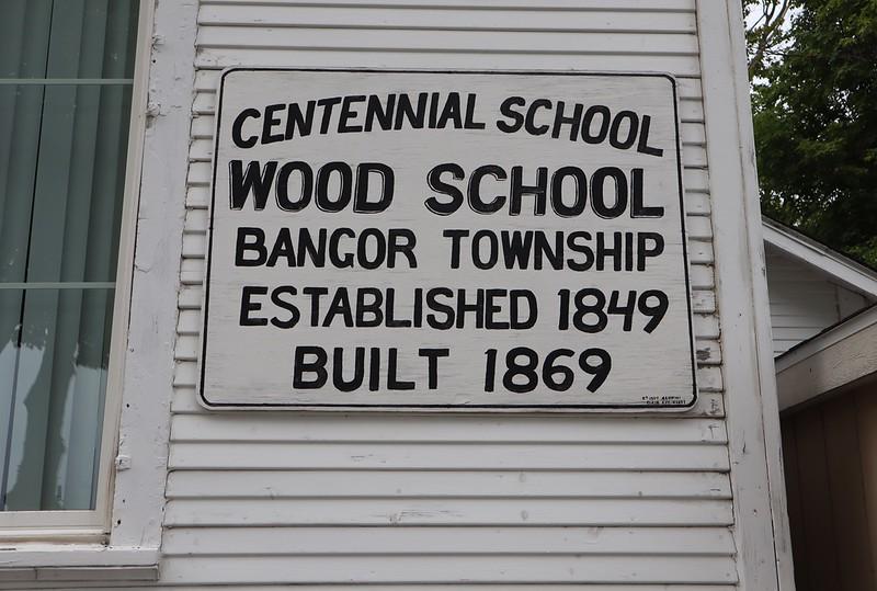 Wood School in Bangor Township