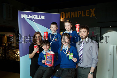 FILMCLUB members, from schools in the area  attended a screening of The Lego Movie at the Omniplex, Newry as part of a series of FREE screenings for FILMCLUB schools in the area.  Pictured are Aine O'Reilly, Cinemagic and Orlagh Loye, Katie Donnelly, Leo Garvey, Jack Sarsv from St. Mary's Primary School and Conor Savage, Omniplex . FILMCLUB in Northern Ireland is a Northern Ireland Screen after schools initiative designed to reduce disadvantage and is funded by the Department of Culture Arts and Leisure and the Office of the First Minister and Deputy First Minister. The scheme is managed by Cinemagic and the Nerve Centre. R1410006