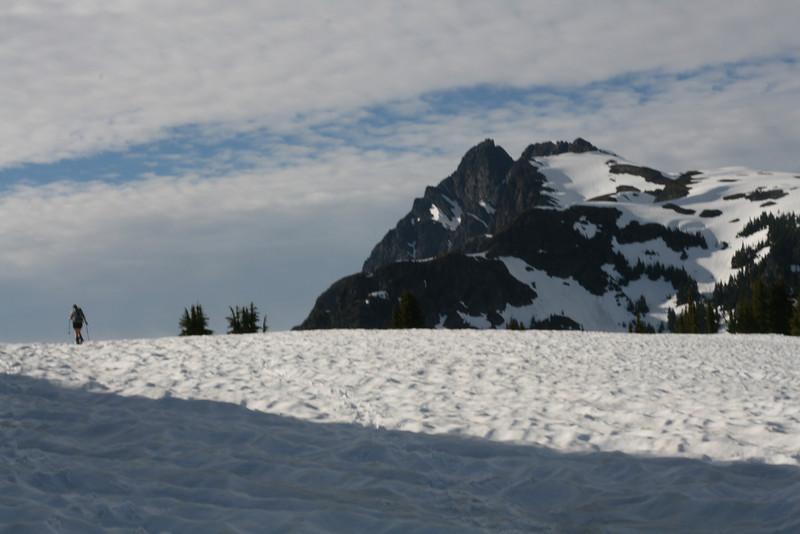 Skier and Tomyhoi Peak