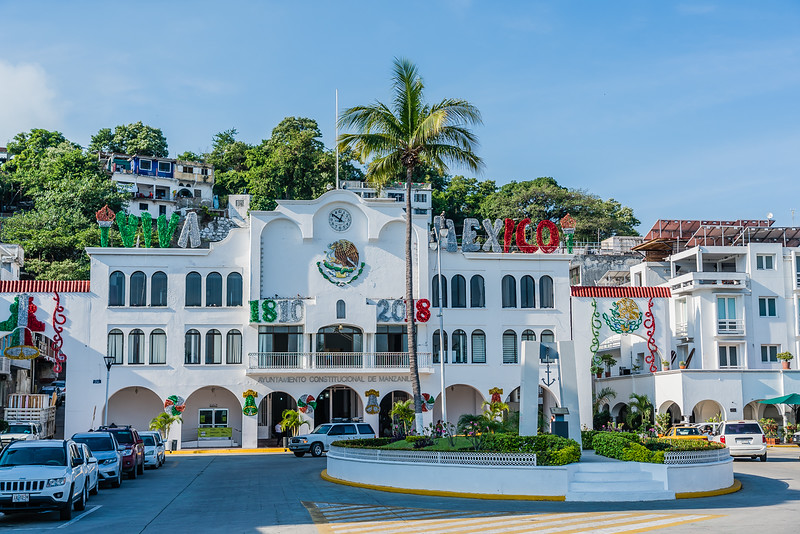 Old town Manzanillo Mexico