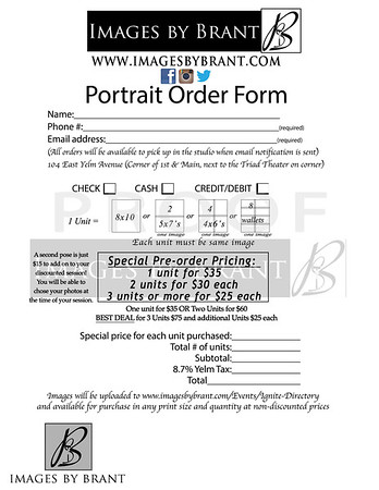 Ignite Church Directory Family Order Form