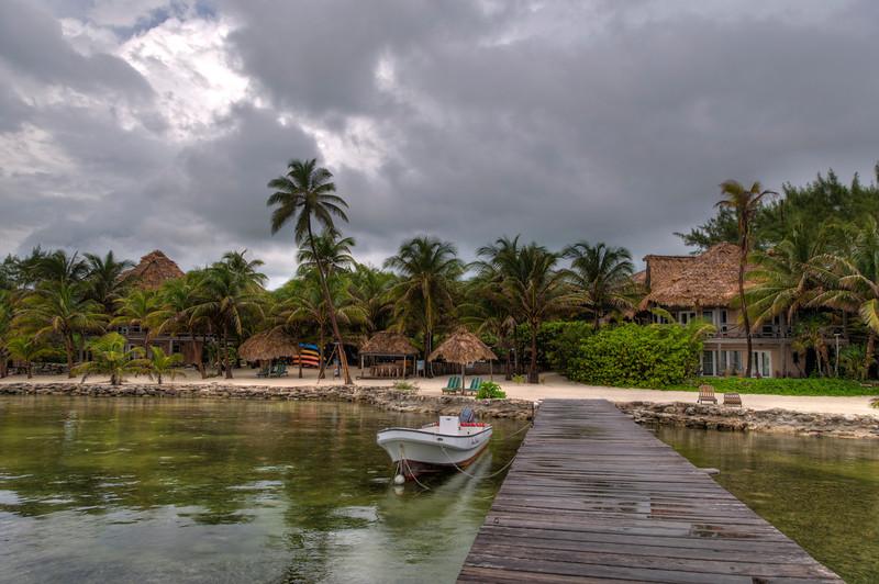 Xanadu Resort on a rainy day.