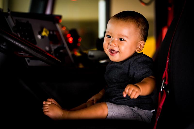 Baby Logan on Engine 16
