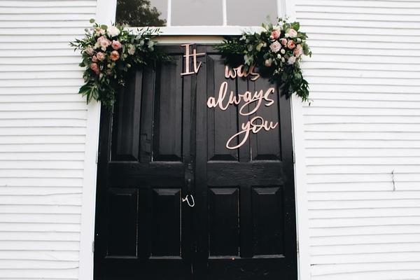 An Outdoor Wedding? Start Decorating at the Front Door!