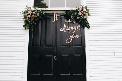 An Outdoor Wedding? Start Decorating at the Front Door!