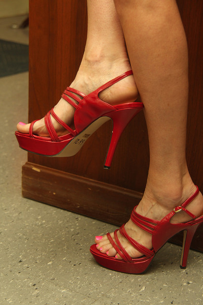 6.08.13 Strappy Red Heels