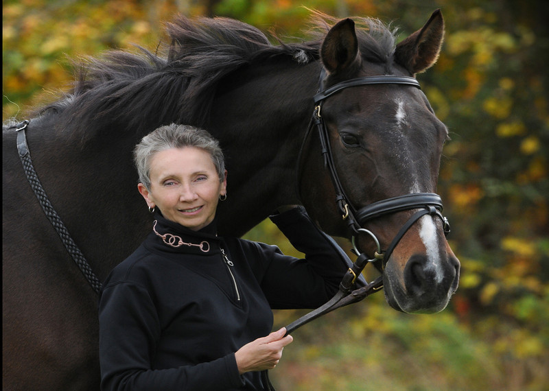 Janice with Roger ( thoroughbred)