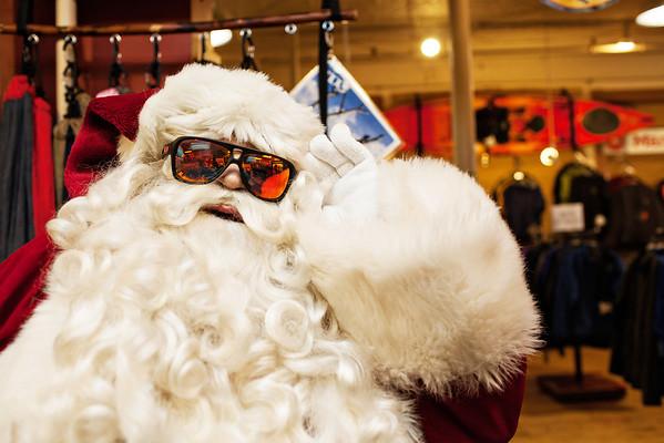 Downtown Fredericton Santa 2013